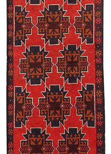 Orange Red Baluchi 2' 7 x 9' 7 - No. 62634
