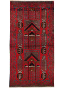 Firebrick Baluchi 3' 5 x 6' 7 - No. 62796