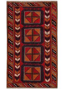 Firebrick Baluchi 3' 7 x 6' 1 - No. 62801