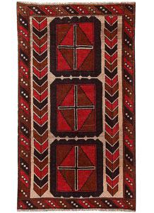 Firebrick Baluchi 3' 5 x 5' 10 - No. 62802