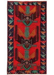 Firebrick Baluchi 3' 6 x 6' 3 - No. 62804