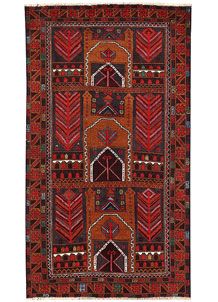 Firebrick Baluchi 3' 6 x 6' 3 - No. 62814