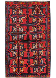 Firebrick Baluchi 3' 7 x 6' - No. 62815
