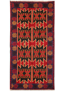 Firebrick Baluchi 3' 4 x 6' 6 - No. 62822