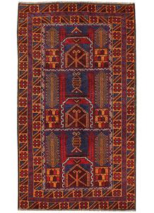 Firebrick Baluchi 3' 7 x 6' 4 - No. 62827