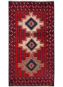 Firebrick Baluchi 3' 6 x 6' 6 - No. 62828