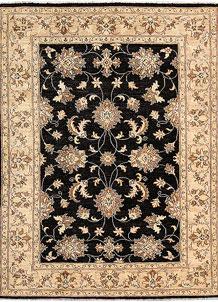 Black Oushak 4' 11 x 6' 6 - No. 62847