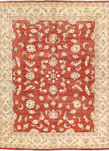 Orange Red Oushak 8' 10 x 11' 11 - No. 62872