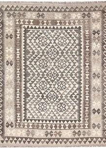 Antique White Kilim 4' 11 x 6' 4 - No. 62894