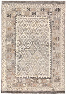 Light Grey Kilim 4' 9 x 6' 9 - No. 62902