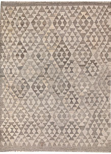 Light Grey Kilim 4' 11 x 6' 6 - No. 62903