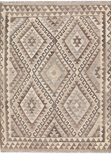 Light Grey Kilim 5' 1 x 6' 7 - No. 62904