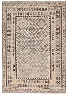 Light Grey Kilim 4' 9 x 6' 9 - No. 62905