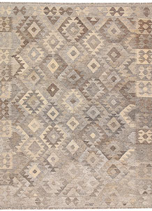 Light Grey Kilim 5' x 6' 6 - No. 62906
