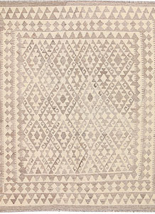 Light Grey Kilim 5' 3 x 6' 4 - No. 62907