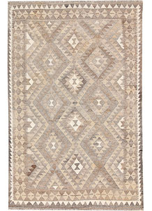 Light Grey Kilim 4' 3 x 6' 7 - No. 62908
