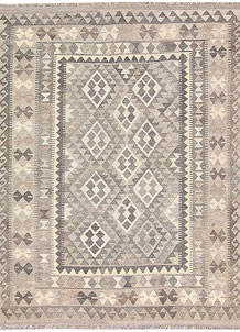 Light Grey Kilim 4' 11 x 6' 7 - No. 62909