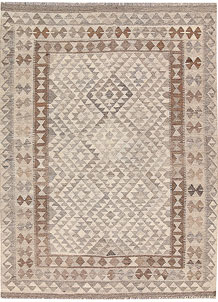 Light Grey Kilim 4' 11 x 6' 8 - No. 62910
