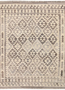 Light Grey Kilim 5' 2 x 6' 4 - No. 62911