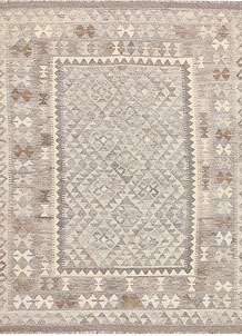 Light Grey Kilim 5' x 6' 4 - No. 62914