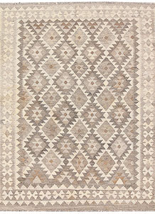 Light Grey Kilim 5' 1 x 6' 3 - No. 62915