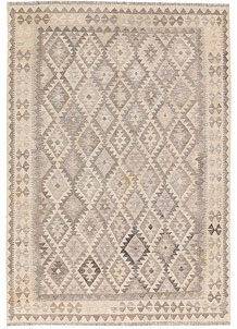 Light Grey Kilim 4' 10 x 6' 7 - No. 62916