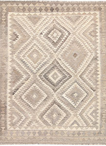 Light Grey Kilim 5' 3 x 6' 7 - No. 62917
