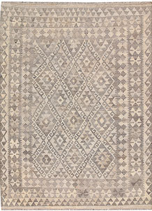 Light Grey Kilim 4' 11 x 6' 7 - No. 62919