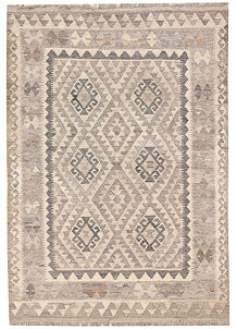 Light Grey Kilim 4' x 5' 9 - No. 62923