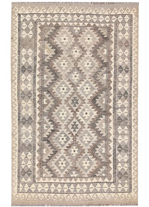 Light Grey Kilim 3' 11 x 6' 6 - No. 62925