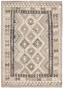 Light Grey Kilim 4' 3 x 6' - No. 62926