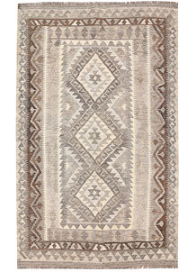 Light Grey Kilim 3' 10 x 6' 2 - No. 62927