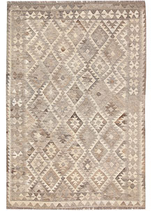 Light Grey Kilim 4' 1 x 6' 1 - No. 62929