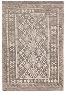 Light Grey Kilim 4' 1 x 5' 9 - No. 62930