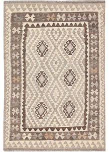 Light Grey Kilim 4' x 5' 10 - No. 62932