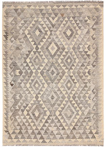Light Grey Kilim 4' 2 x 5' 9 - No. 62933