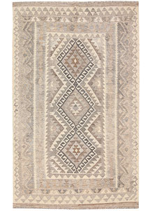 Light Grey Kilim 3' 11 x 6' 3 - No. 62936