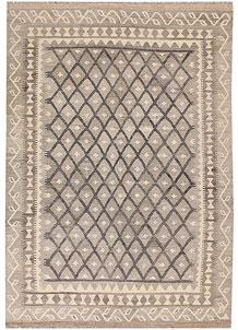 Silver Kilim 5' 7 x 8' - No. 62955