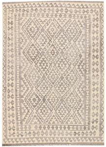 Silver Kilim 5' 9 x 8' - No. 62957