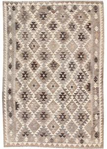 Silver Kilim 5' 6 x 7' 9 - No. 62964
