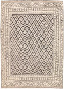 Silver Kilim 6' 1 x 8' - No. 62966