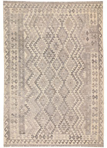 Silver Kilim 5' 8 x 8' - No. 62967