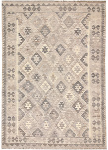Silver Kilim 5' 7 x 7' 11 - No. 62970