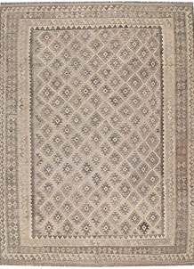 Light Grey Kilim 8' 2 x 11' 3 - No. 62977