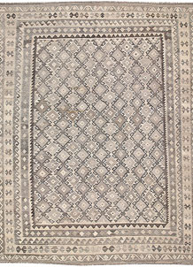 Light Grey Kilim 8' 8 x 11' 3 - No. 62979