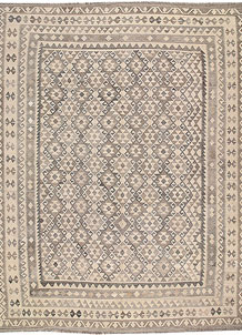 Light Grey Kilim 8' 9 x 11' 4 - No. 62980