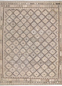 Light Grey Kilim 8' 4 x 9' 10 - No. 62982
