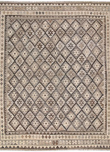 Light Grey Kilim 8' 4 x 9' 5 - No. 62983