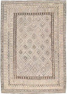 Light Grey Kilim 8' 2 x 11' 9 - No. 62985