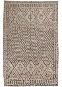 Light Grey Kilim 6' 7 x 9' 5 - No. 62988